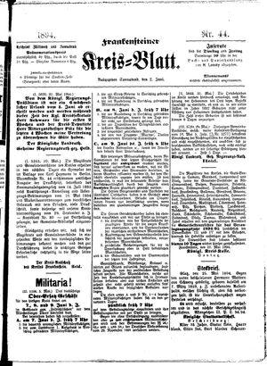 Frankensteiner Kreisblatt vom 02.06.1894