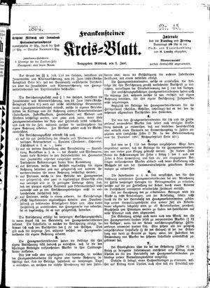 Frankensteiner Kreisblatt vom 06.06.1894