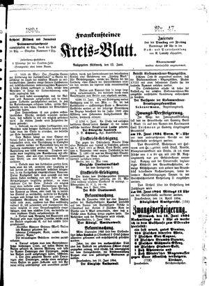 Frankensteiner Kreisblatt vom 13.06.1894