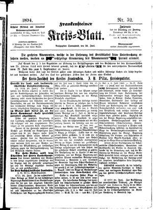 Frankensteiner Kreisblatt vom 30.06.1894