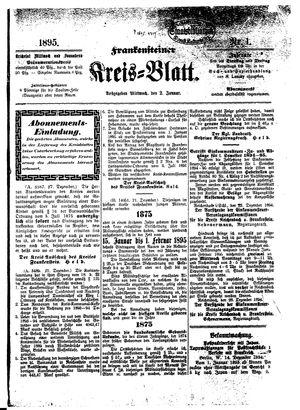 Frankensteiner Kreisblatt vom 02.01.1895