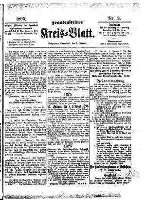 Frankensteiner Kreisblatt vom 05.01.1895