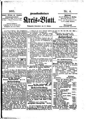 Frankensteiner Kreisblatt vom 12.01.1895