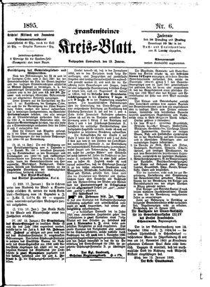 Frankensteiner Kreisblatt vom 19.01.1895