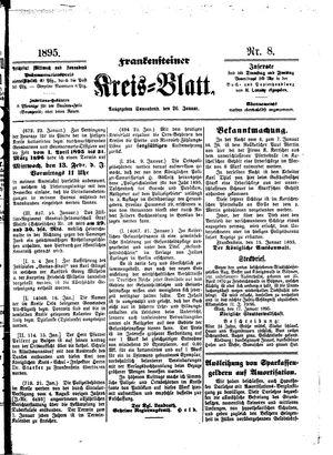 Frankensteiner Kreisblatt vom 26.01.1895