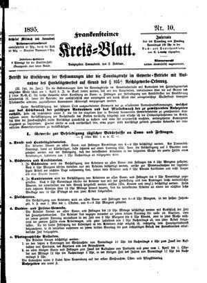 Frankensteiner Kreisblatt vom 02.02.1895