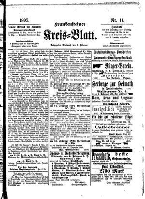 Frankensteiner Kreisblatt vom 06.02.1895