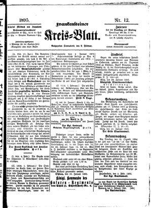 Frankensteiner Kreisblatt vom 09.02.1895