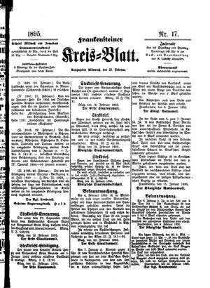 Frankensteiner Kreisblatt vom 27.02.1895
