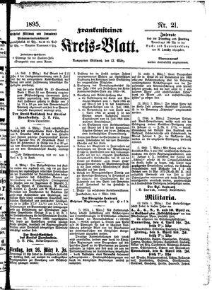 Frankensteiner Kreisblatt vom 13.03.1895