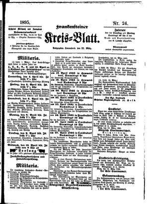 Frankensteiner Kreisblatt vom 23.03.1895