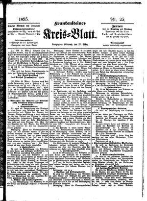 Frankensteiner Kreisblatt vom 27.03.1895