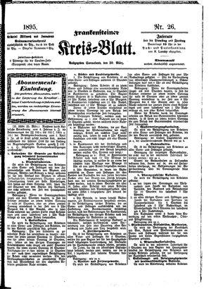 Frankensteiner Kreisblatt vom 30.03.1895