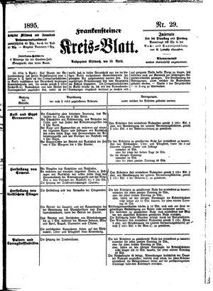 Frankensteiner Kreisblatt vom 10.04.1895