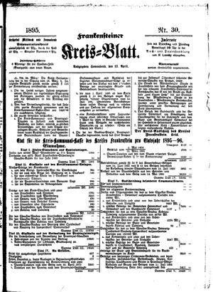 Frankensteiner Kreisblatt vom 13.04.1895