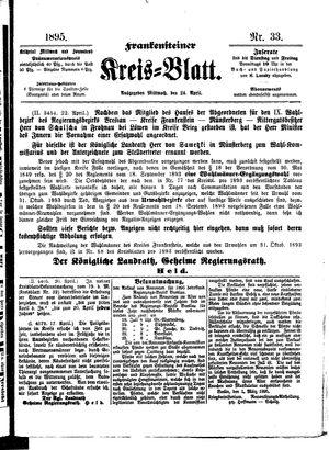 Frankensteiner Kreisblatt vom 24.04.1895