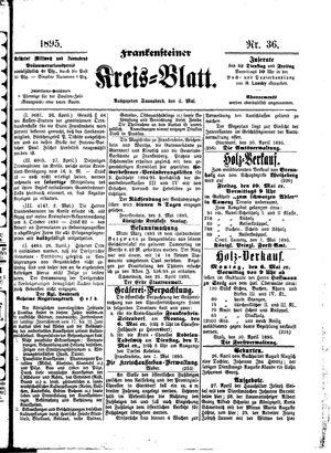Frankensteiner Kreisblatt vom 04.05.1895