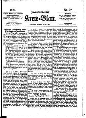 Frankensteiner Kreisblatt vom 15.05.1895