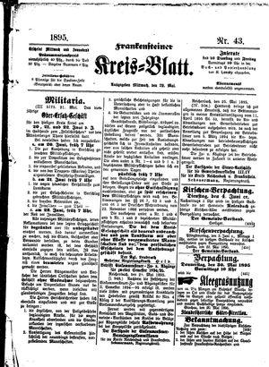 Frankensteiner Kreisblatt vom 29.05.1895
