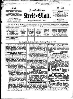 Frankensteiner Kreisblatt vom 05.06.1895