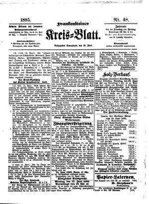 Frankensteiner Kreisblatt vom 15.06.1895
