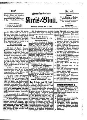 Frankensteiner Kreisblatt vom 19.06.1895