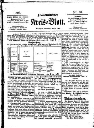 Frankensteiner Kreisblatt vom 22.06.1895