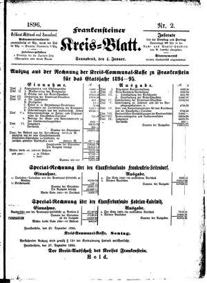 Frankensteiner Kreisblatt vom 04.01.1896