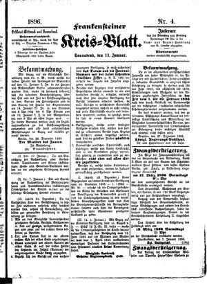 Frankensteiner Kreisblatt vom 11.01.1896