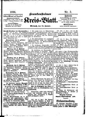 Frankensteiner Kreisblatt vom 15.01.1896