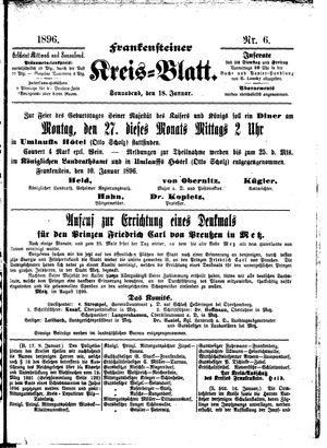 Frankensteiner Kreisblatt vom 18.01.1896