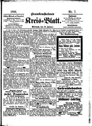 Frankensteiner Kreisblatt on Jan 22, 1896