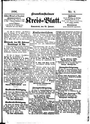 Frankensteiner Kreisblatt vom 25.01.1896