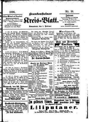 Frankensteiner Kreisblatt vom 01.02.1896
