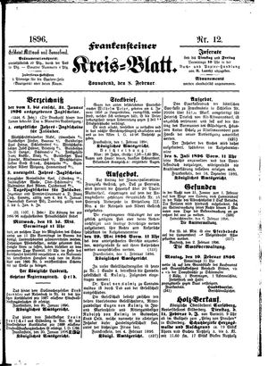 Frankensteiner Kreisblatt vom 08.02.1896
