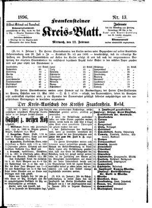 Frankensteiner Kreisblatt vom 12.02.1896