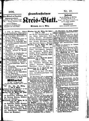 Frankensteiner Kreisblatt vom 04.03.1896