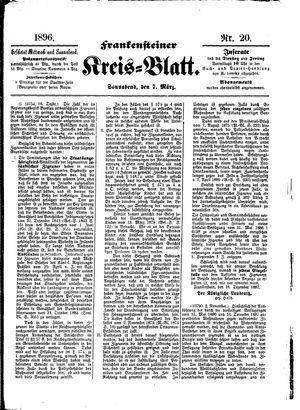 Frankensteiner Kreisblatt vom 07.03.1896