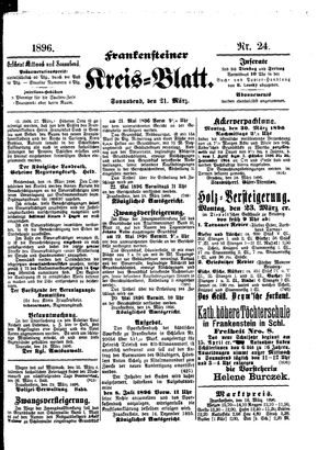 Frankensteiner Kreisblatt vom 21.03.1896