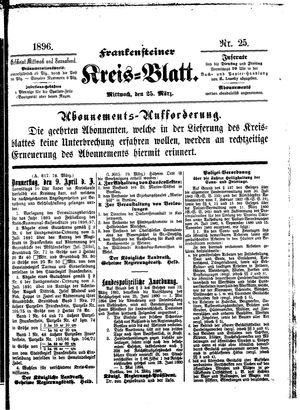 Frankensteiner Kreisblatt vom 25.03.1896