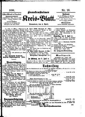 Frankensteiner Kreisblatt vom 04.04.1896