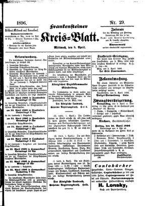 Frankensteiner Kreisblatt vom 08.04.1896
