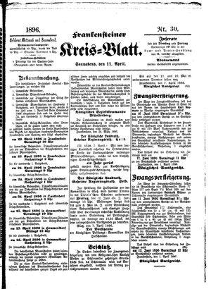 Frankensteiner Kreisblatt vom 11.04.1896