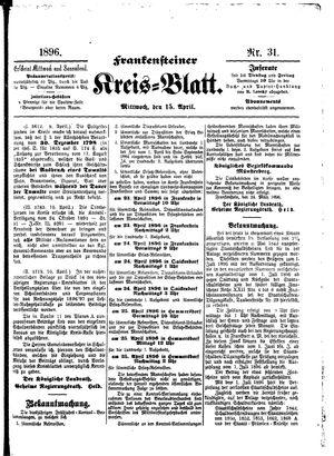 Frankensteiner Kreisblatt vom 15.04.1896