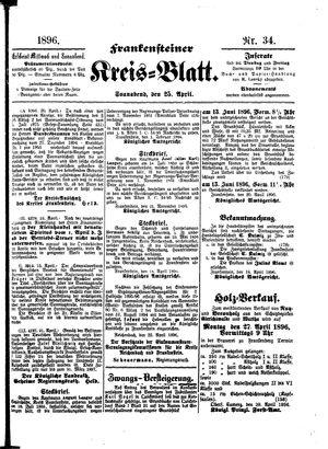 Frankensteiner Kreisblatt vom 25.04.1896