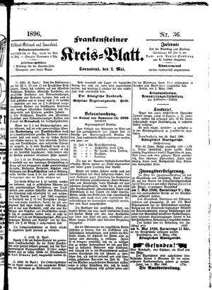 Frankensteiner Kreisblatt vom 02.05.1896