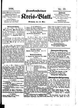 Frankensteiner Kreisblatt on May 13, 1896