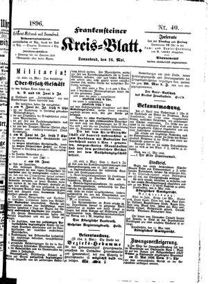 Frankensteiner Kreisblatt on May 16, 1896