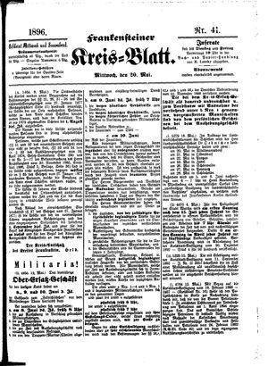 Frankensteiner Kreisblatt vom 20.05.1896