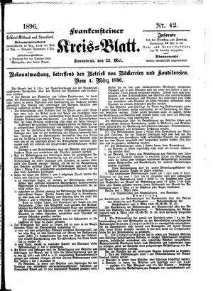 Frankensteiner Kreisblatt vom 23.05.1896